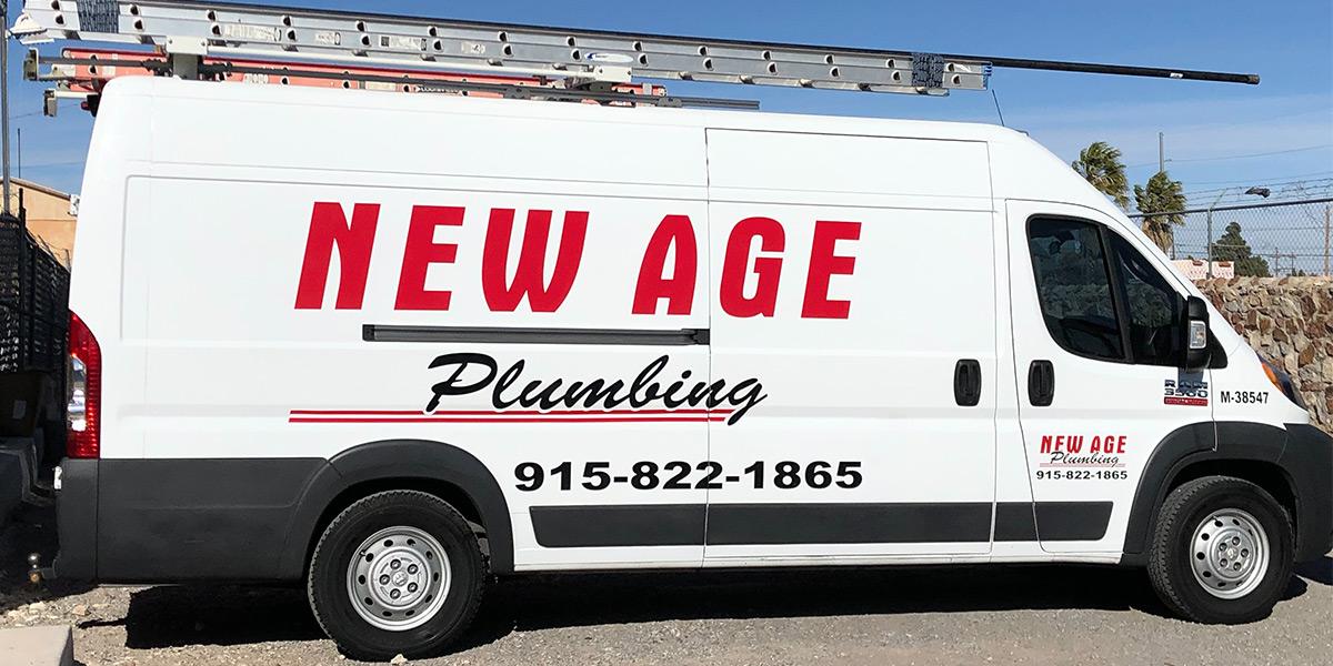 New Age Plumbing Truck in El Paso, TX